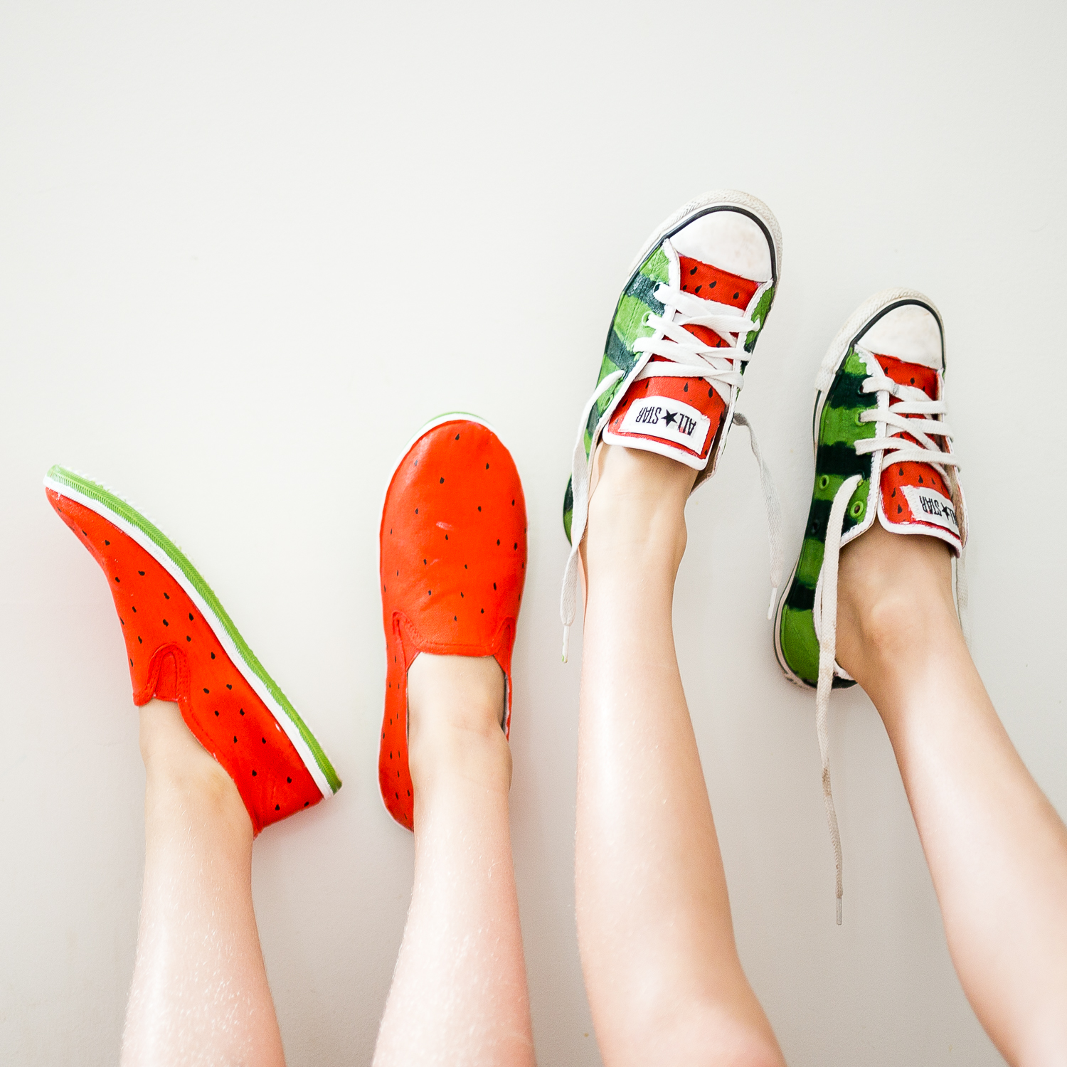 diy watermelon shoes — crafthubs